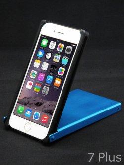 画像1: for iPhone8+/7+/6s+/6+ アルマイト【青色】Trick Cover